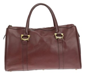 Cartier Red Barrel Duffle Tote in Maroon