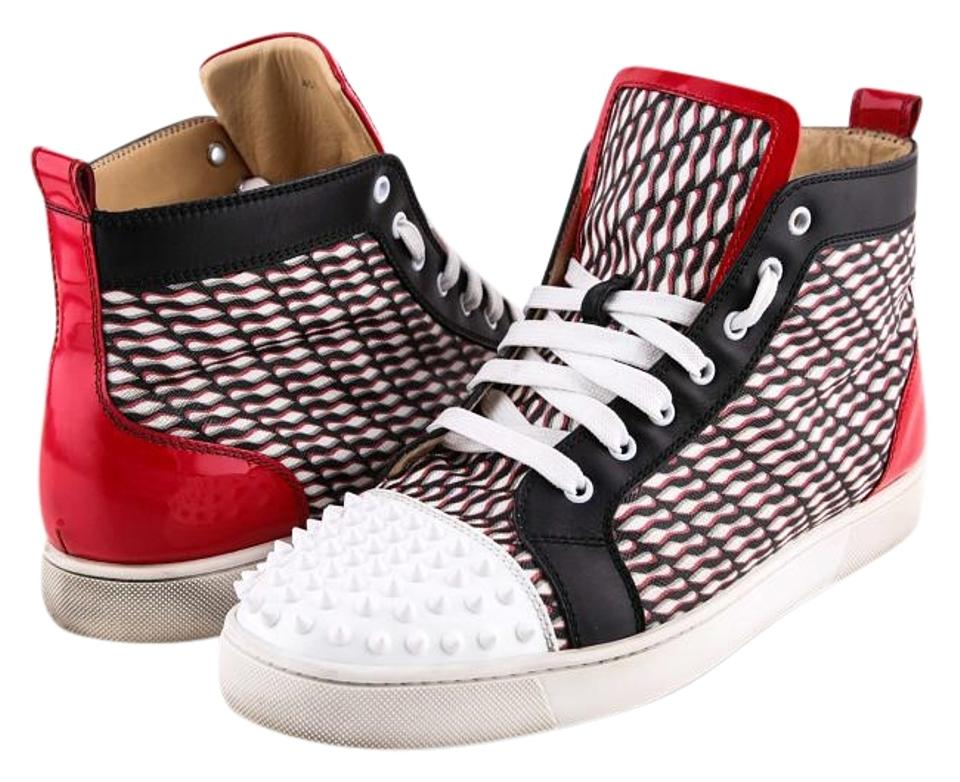 newest a471e a78db Christian Louboutin Multicolor Red Black White Sneakers Boots/Booties Size  US 12.5 Regular (M, B) 38% off retail
