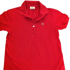 Lacoste Button Down Shirt Red