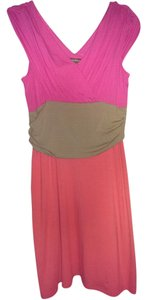 Tommy Bahama short dress Pink/tan/coral Summer Tri Colored on Tradesy