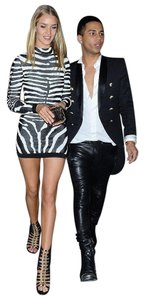 Balmain New With Tags Zebra Print Mini Dress