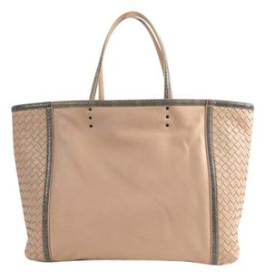 Bottega Veneta Snakeskin Tote in Flamingo