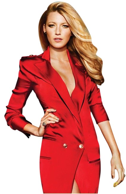 Item - Red Sleeve Coat Long Formal Dress Size 10 (M)