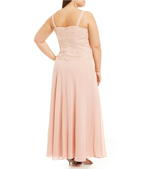 Karen Millen Cherry Pink Chiffon & Lace 96540 Traditional Bridesmaid/Mob Dress Size 24 (Plus 2x) Image 3