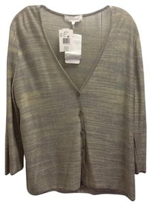 Escada Metallic Chic Top Silver Green