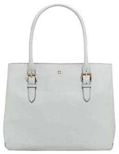 Kate Spade White Leather Tote in Light Smoke