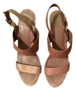 Vince Camuto Iridescent Chunky Leather Pink Sandals