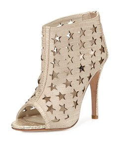 Alice + Olivia Star-cutout Metallic Pale Gold Boots