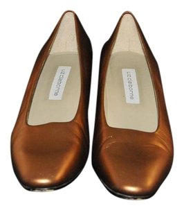 Liz Claiborne Vintage Copper Metallic Pumps