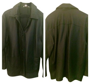 Other Button Up Leather Black Blazer