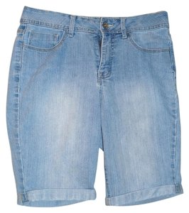 St. John Cuffed Shorts blue jean, light