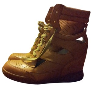Marc Jacobs Designer Sneaker Wedge camel sneakers side cutouts Wedges