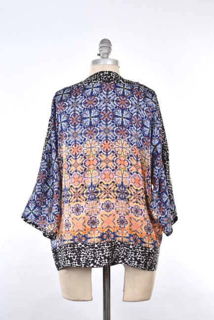 Kensie Oversized Chiffon Tunic Top Multi-color Image 4