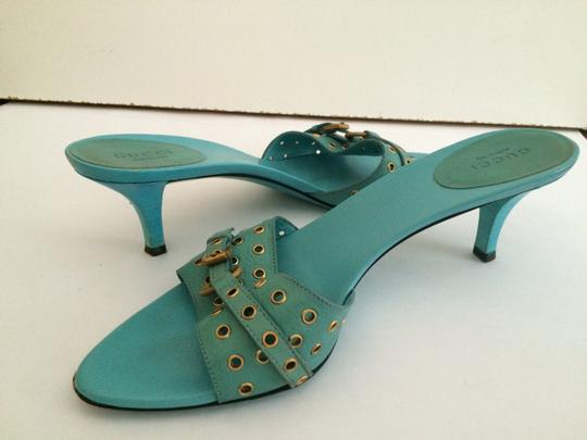 Gucci Blue Sandals