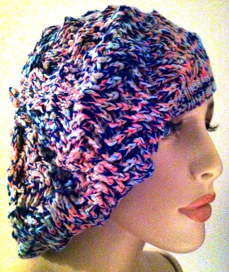 Missoni Missoni Knitwear Beret Hat Pink Blue NWT Vintage Made in Italy NOS Style 104.MD.117943 Berretto