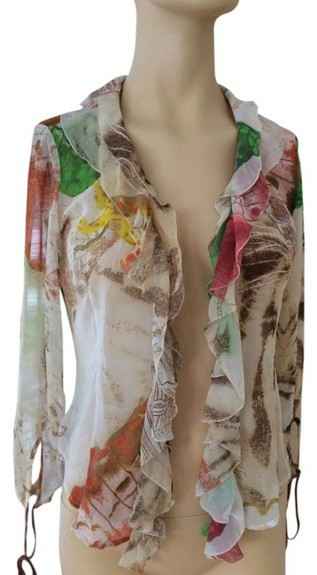 Preload https://item2.tradesy.com/images/just-cavalli-multicolor-silk-ruffle-woman-s-blouse-size-6-s-1765101-0-0.jpg?width=400&height=650