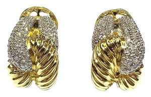 David Yurman David Yurman 18 Karat Gold & Diamonds Rope Earrings
