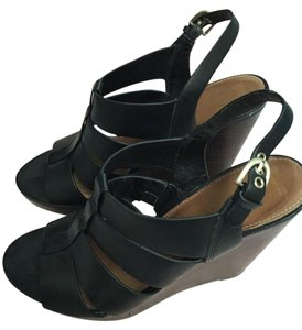 Sacks Fifth Avenue Black Wedges