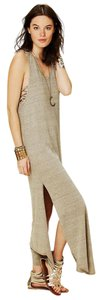Sand Maxi Dress by Free People Maxi V-neck Sleeveless