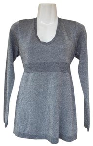New York & Company V-neck Metallic Sweater