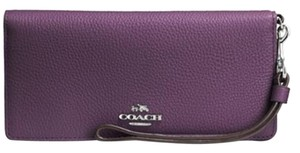 Coach COACH Slim Wallet in Colorblock Leather 53759 NWT Eggplant