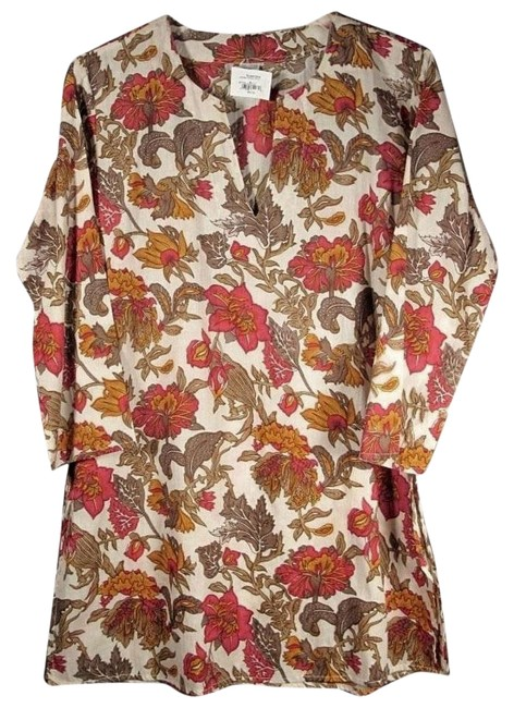 Preload https://img-static.tradesy.com/item/17651914/new-indian-cotton-floral-print-tunic-size-4-s-0-1-650-650.jpg