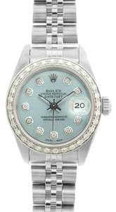 Rolex Rolex Ladies DateJust Ice Blue Diamond Dial Watch 69174
