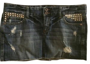 Express Mini Skirt Distressed