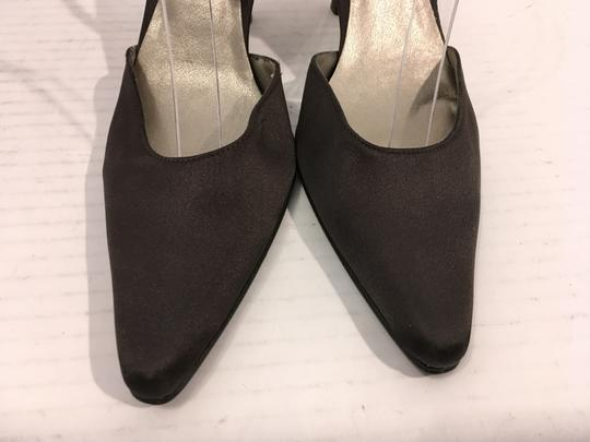 Hype Upper Made Spain REDUCED Brown fabric leather lining leather soles slingback Pumps