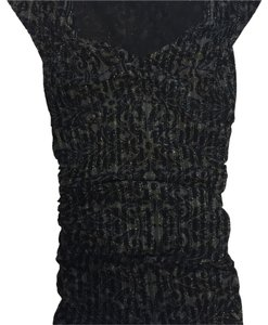 Express Top Black with silver metalic threads