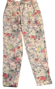 Zara Relaxed Pants Pink floral