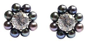 DeWitt's DYED BLACK PEARL EARRING JACKETS (FOR STUD EARRINGS) IN 14 KARAT GOLD