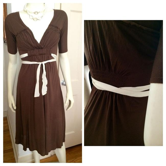 BCBG short dress Brown on Tradesy
