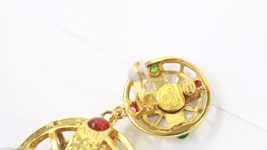 Chanel Vintage Pink and Green Gripoix Earrings Image 3