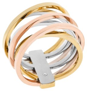 Michael Kors Michael Kors Tri Color Criss Cross Crossover Ring