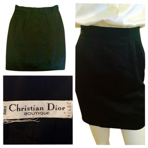 Christian Dior Mini Skirt Black