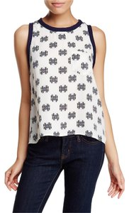 Lush Top Ivory Navy