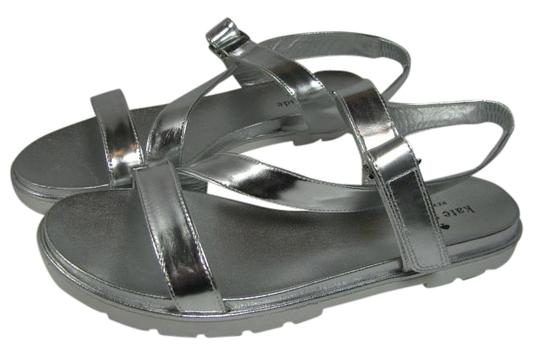 Preload https://img-static.tradesy.com/item/17653261/kate-spade-metallic-silver-new-mckee-leather-rubber-strappy-flat-sandals-size-us-85-regular-m-b-0-1-540-540.jpg