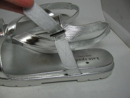 Kate Spade Flat Strappy metallic silver Sandals Image 3