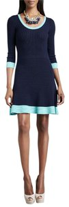 Lilly Pulitzer short dress Navy with Green Trim 100% Merino Wool on Tradesy