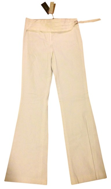 BCBGMAXAZRIA Dress Tuxedo Boot Cut Pants White
