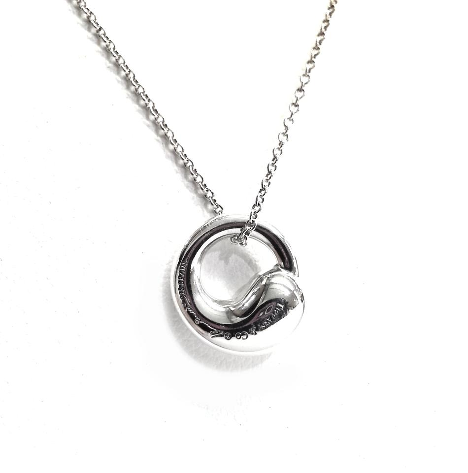Tiffany co elsa peretti eternal circle pendant necklace tradesy mozeypictures Image collections