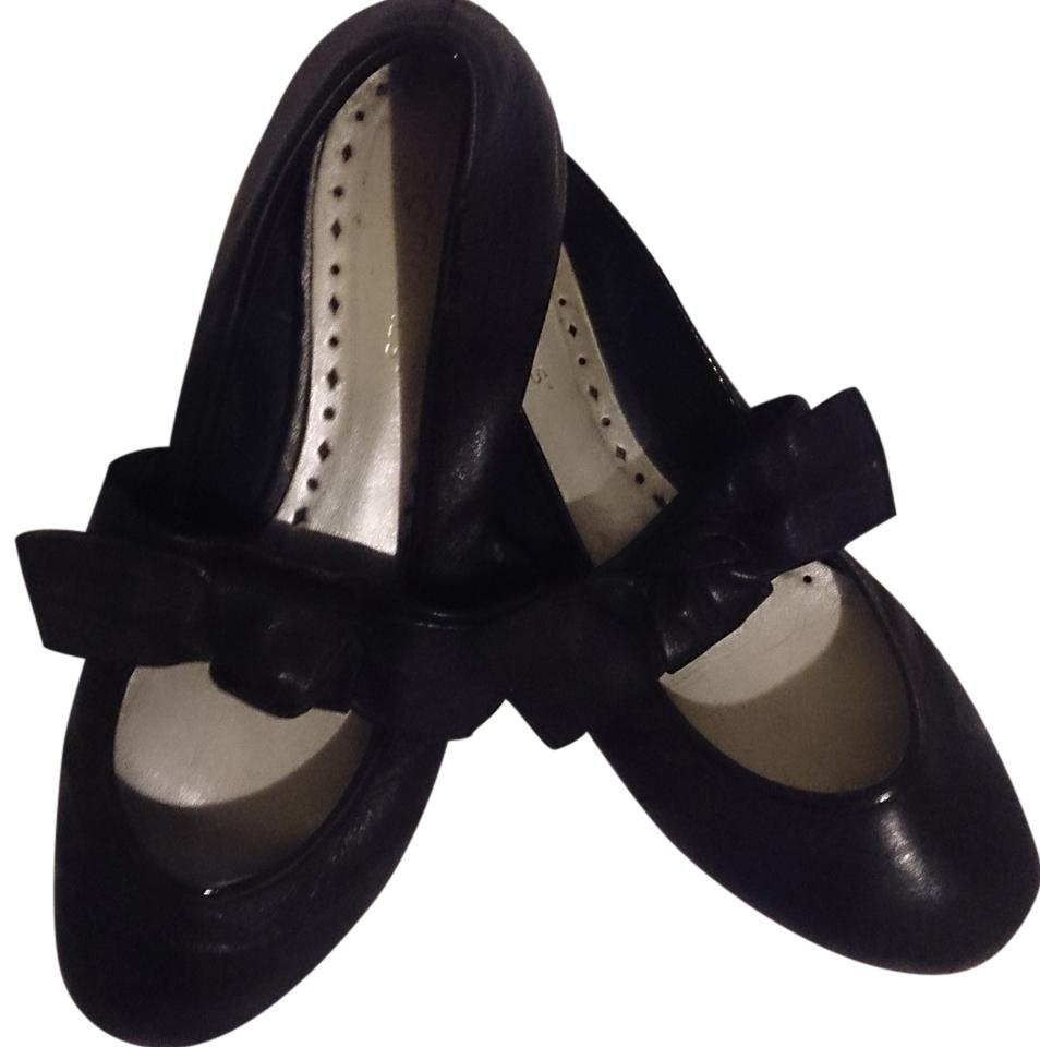 c87693a32 BCBGeneration Ballet Bow Strap Size 8.5 Women s Free Shipping Paypal  Tradesy Black Flats Image 0 ...