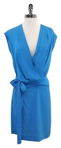 Diane von Furstenberg short dress Light Blue Silk on Tradesy