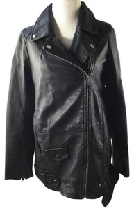 Zara Moto Biker Leather Leather Jacket