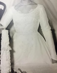 Beautiful Vintage 1950's Wedding Dress Gown Wedding Dress