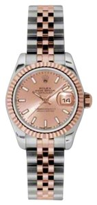 Rolex Rolex New Style Pre Owned Datejust Steel and Rose Gold Pink Stick Dial 26mm