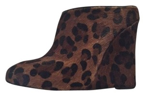 Joie Leopard Horsehair Heels Brown Wedges