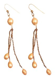 Anthropologie Long Pearl Earrings