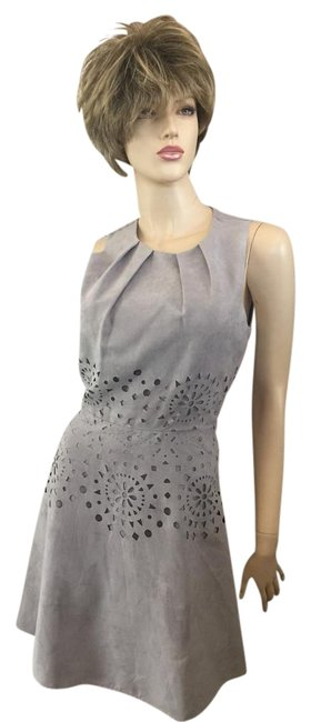 Item - Gray Faux Suede Cutout Lined Short Night Out Dress Size 8 (M)